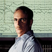 John Guttag believes that computers can improve diagnostic tests and make medicine more personal by automating the interpretation of complex medical data such as the brain wave tracings shown above, or electrocardiogram readings from heart patients.