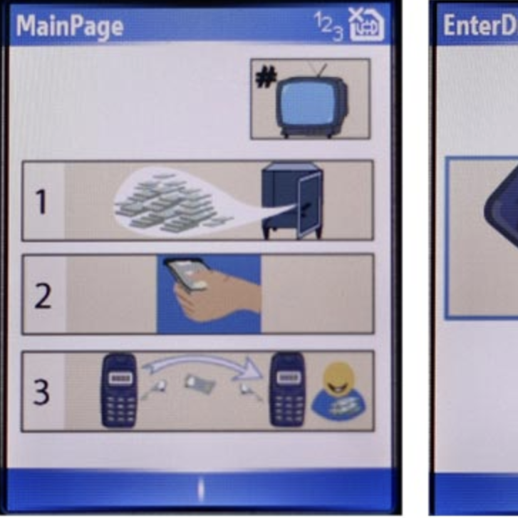 Wordless: Medhi's interfaces guide illiterate and semiliterate users through tasks such as electronic banking.