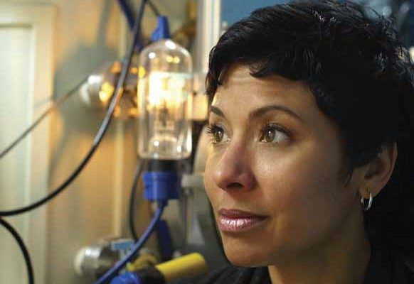 Charged up:Sakti3's Ann Marie Sastry is developing ways to mass-produce lighter and cheaper batteries.