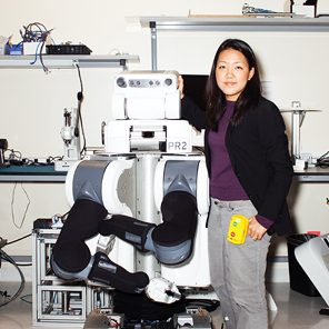 Takayama has helped make a robot called PR2 less intimidating for the elderly and others who might need it around the home.