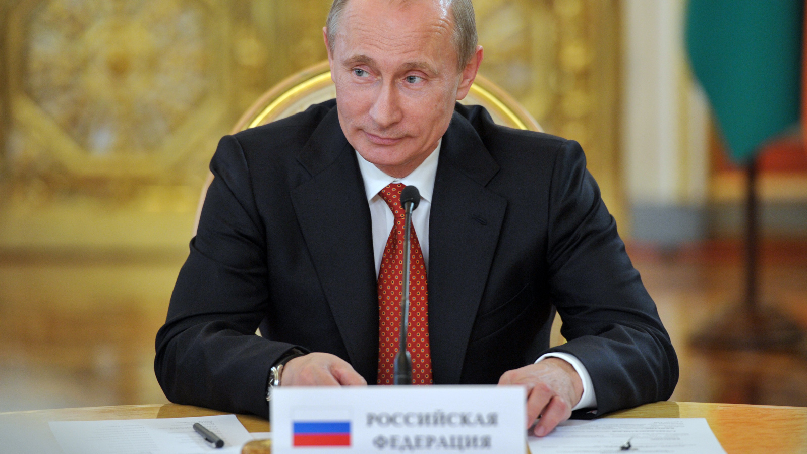 Vladimir Putin, the president of Russia