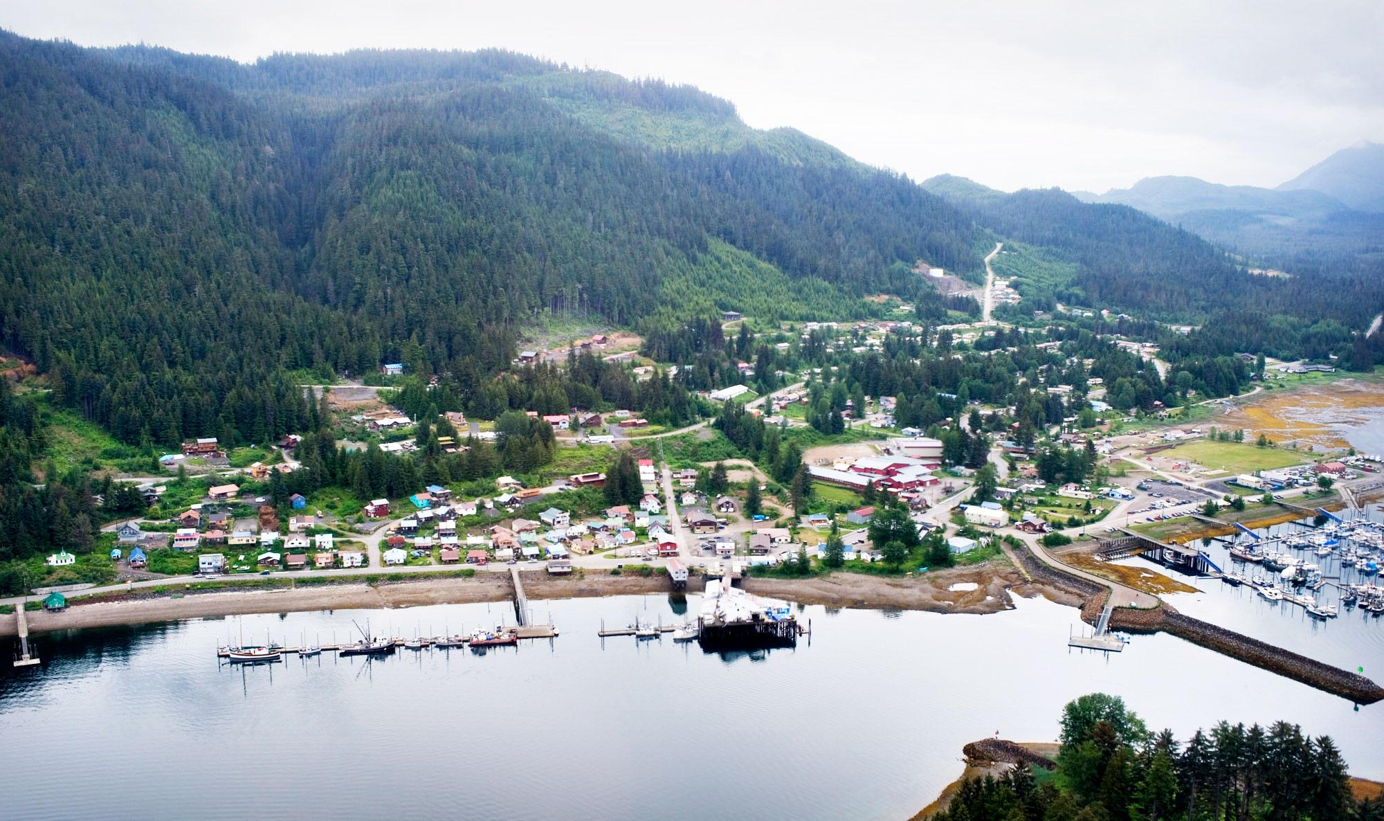 Aerial photo of Juneau, Alaska