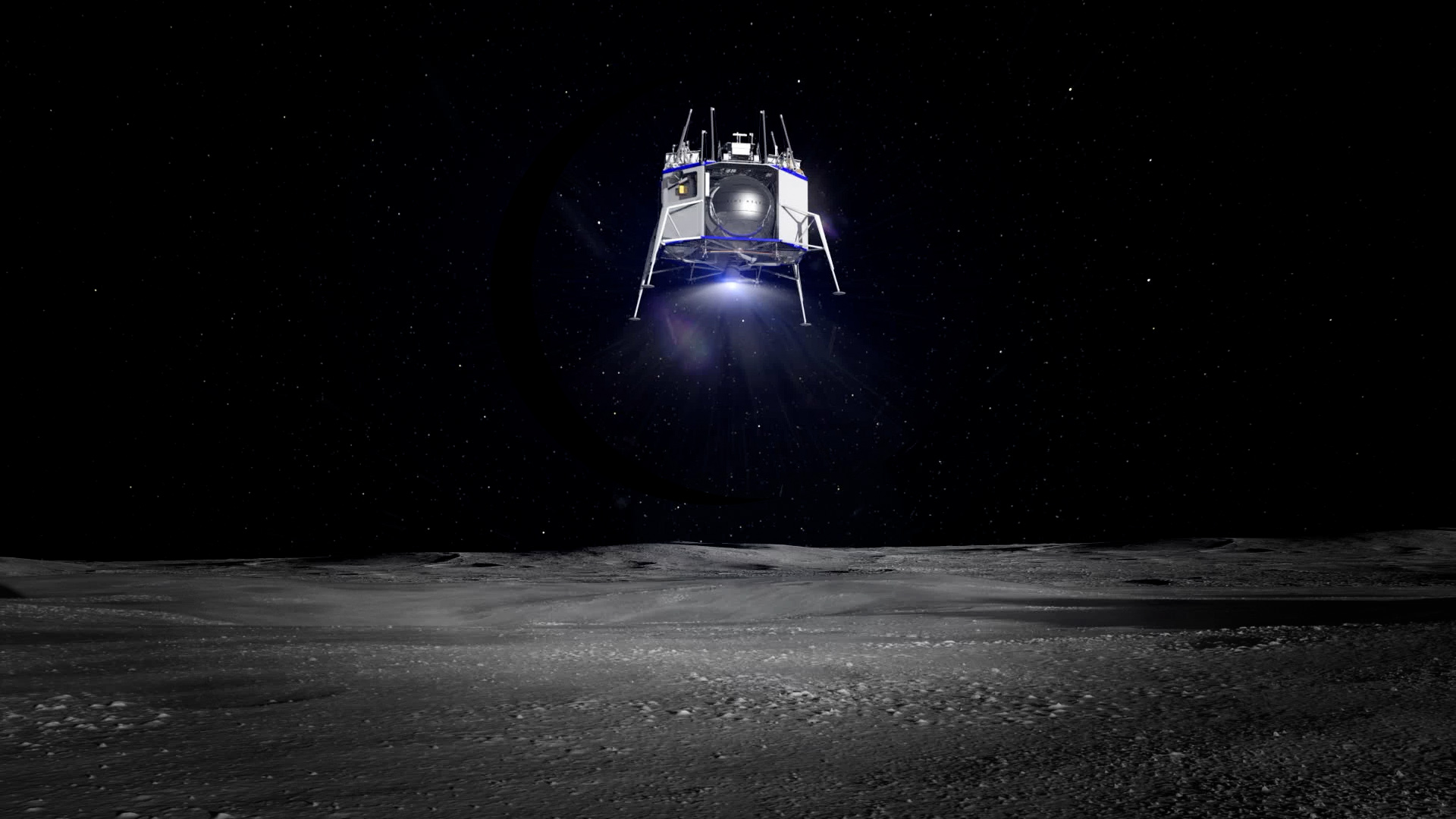 Render of Blue Moon landing