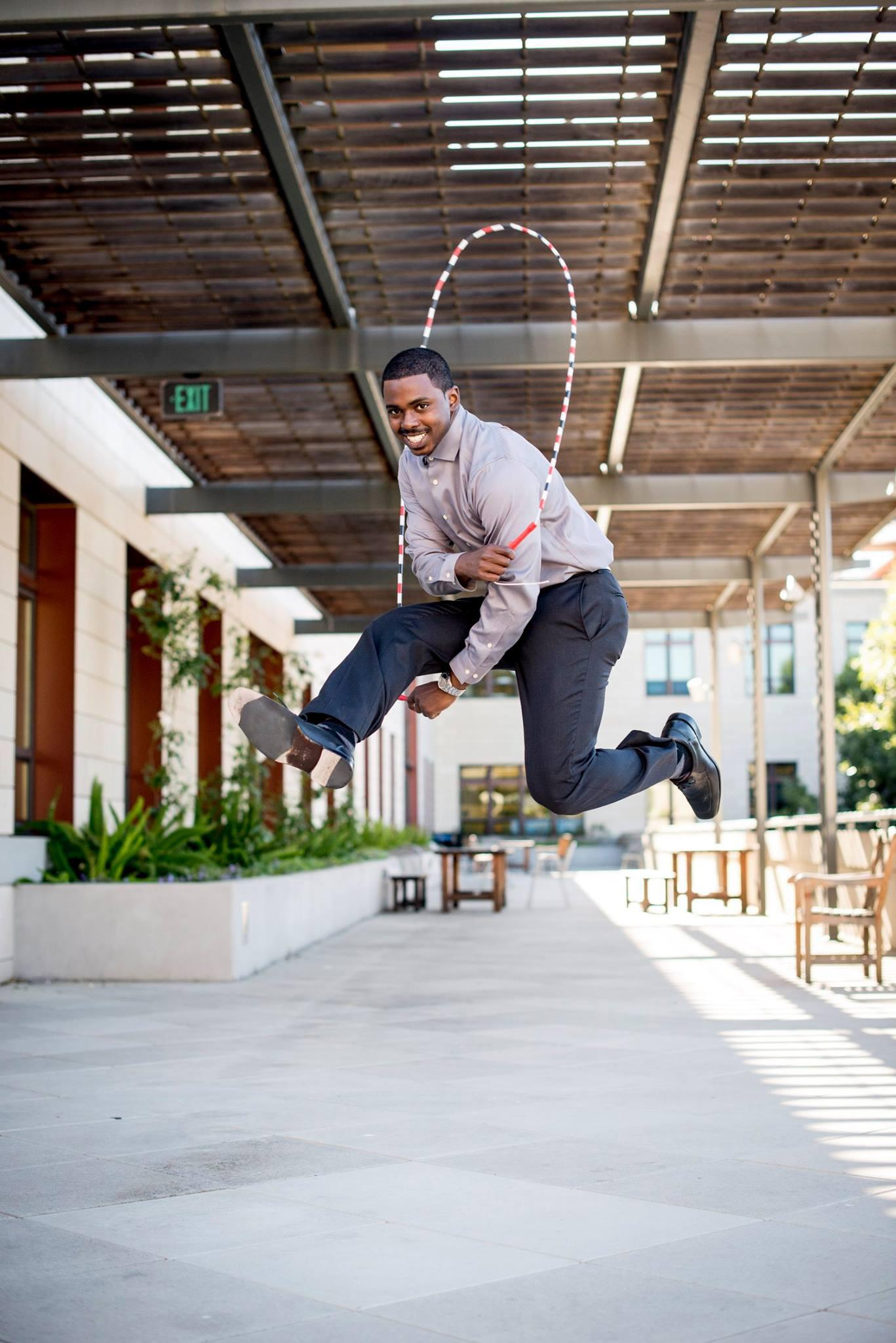 Stewart Isaacs jump-roping