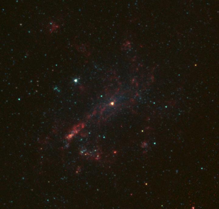 Infrared image of galaxy NGC 4395