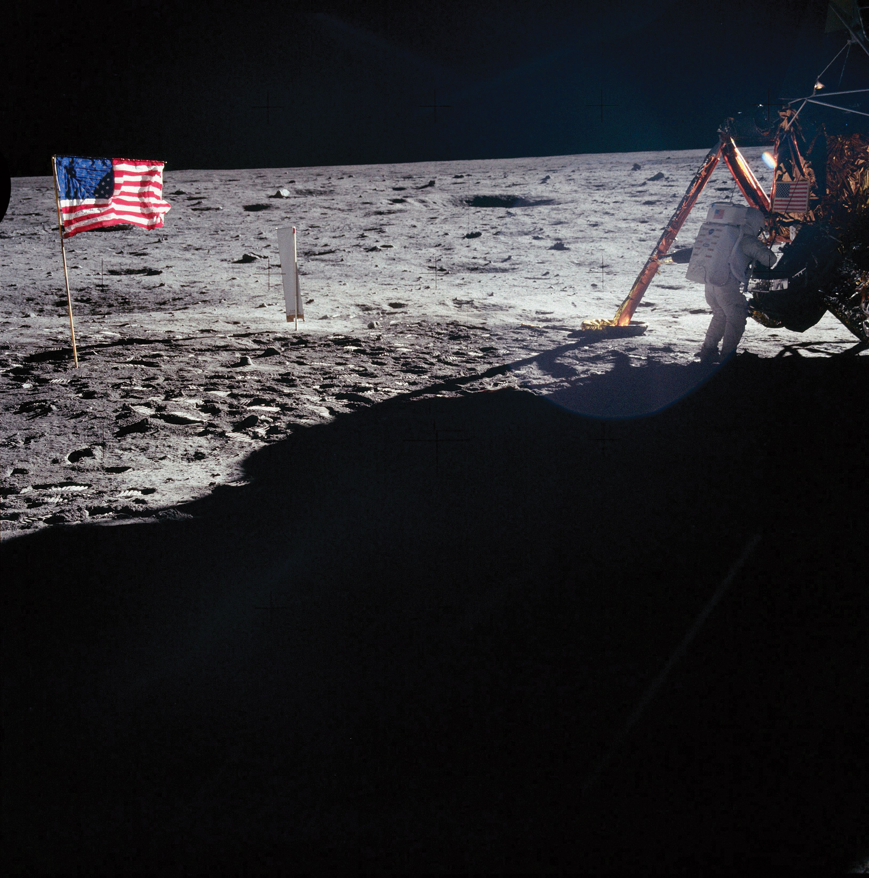 An image of an Apollo XI astronaut on the moon