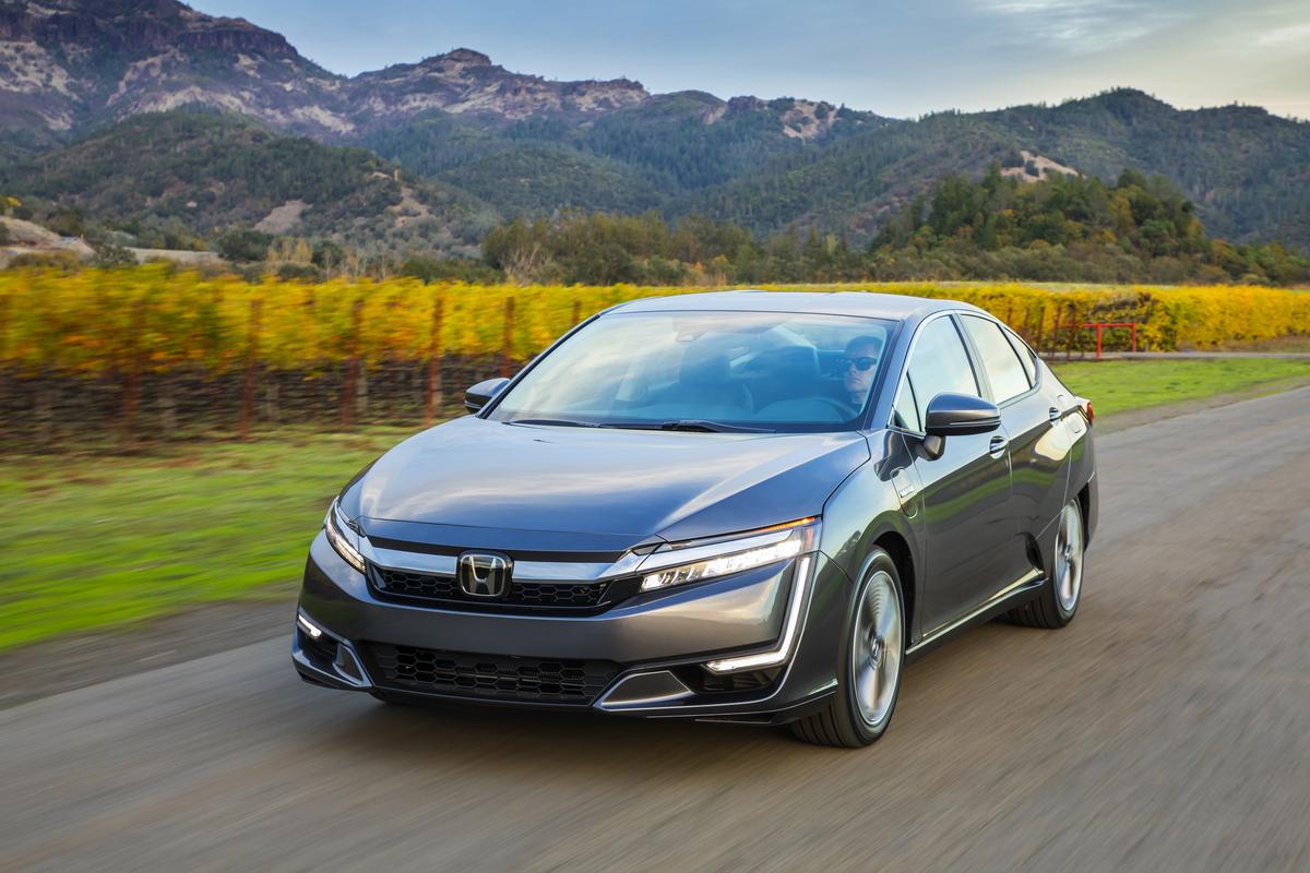 A 2019 Honda Clarity plug-in hybrid.
