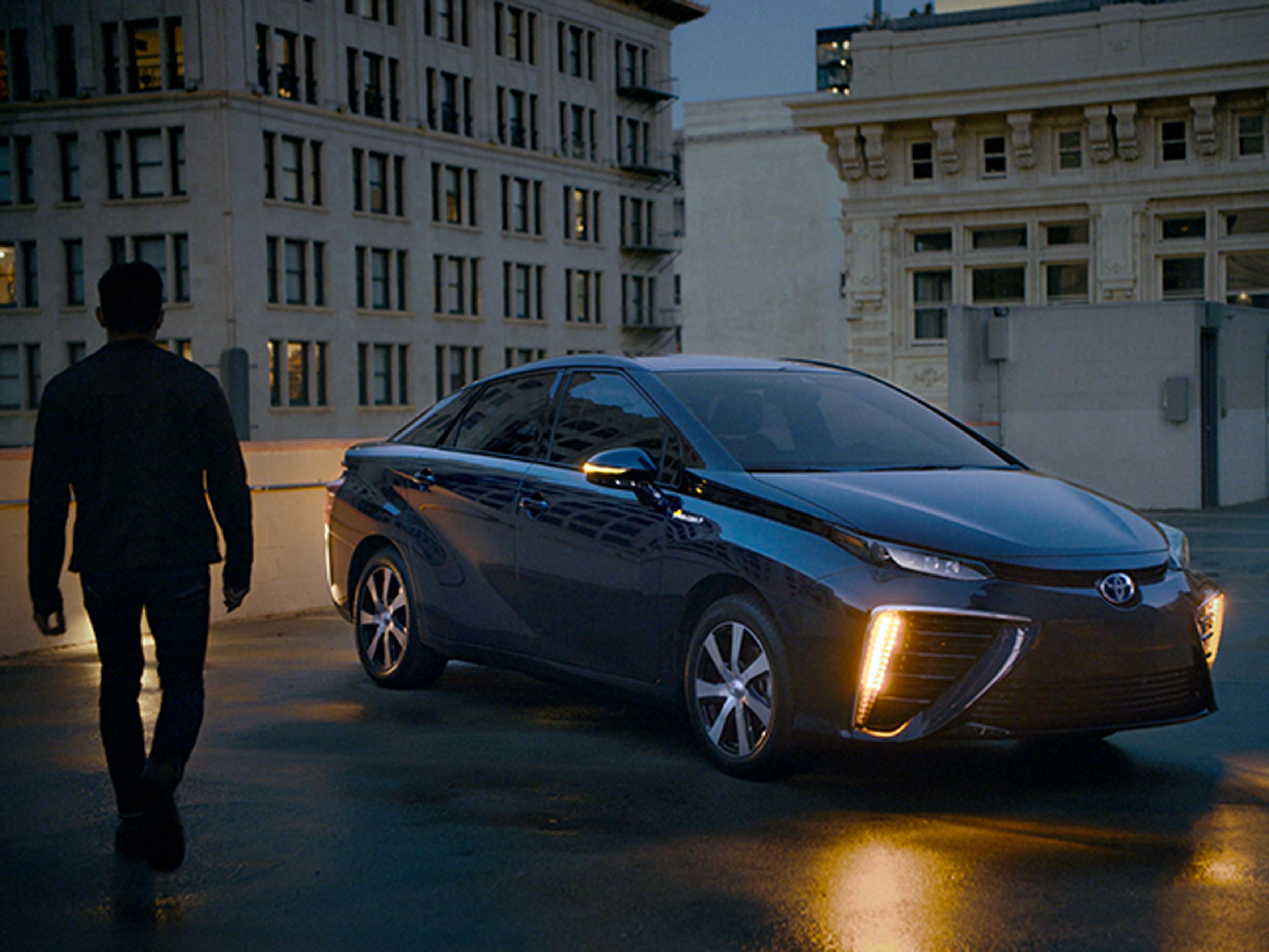 Toyota's Mirai, a fuel-cell sedan.