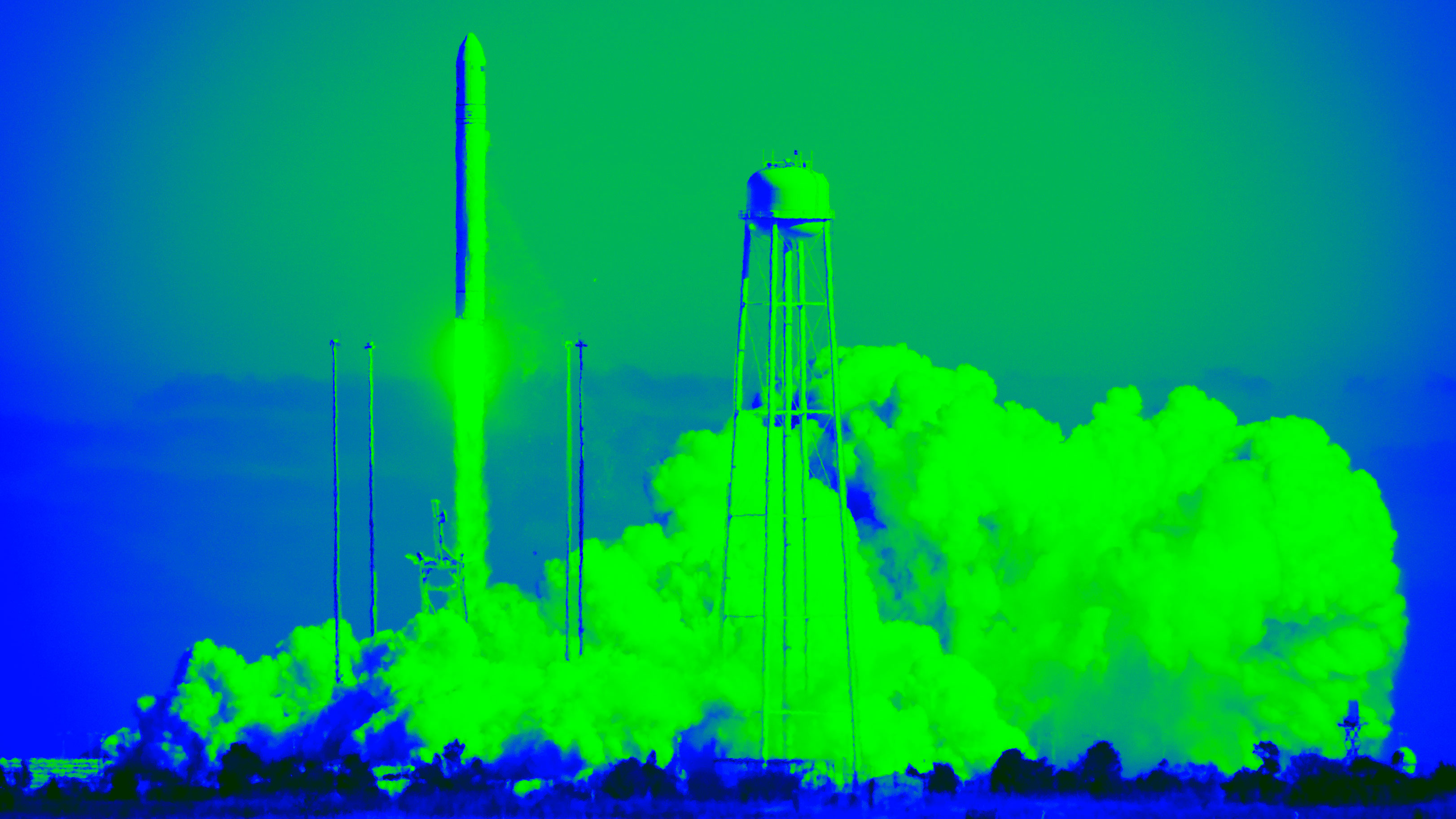 An image of a rocket taking off