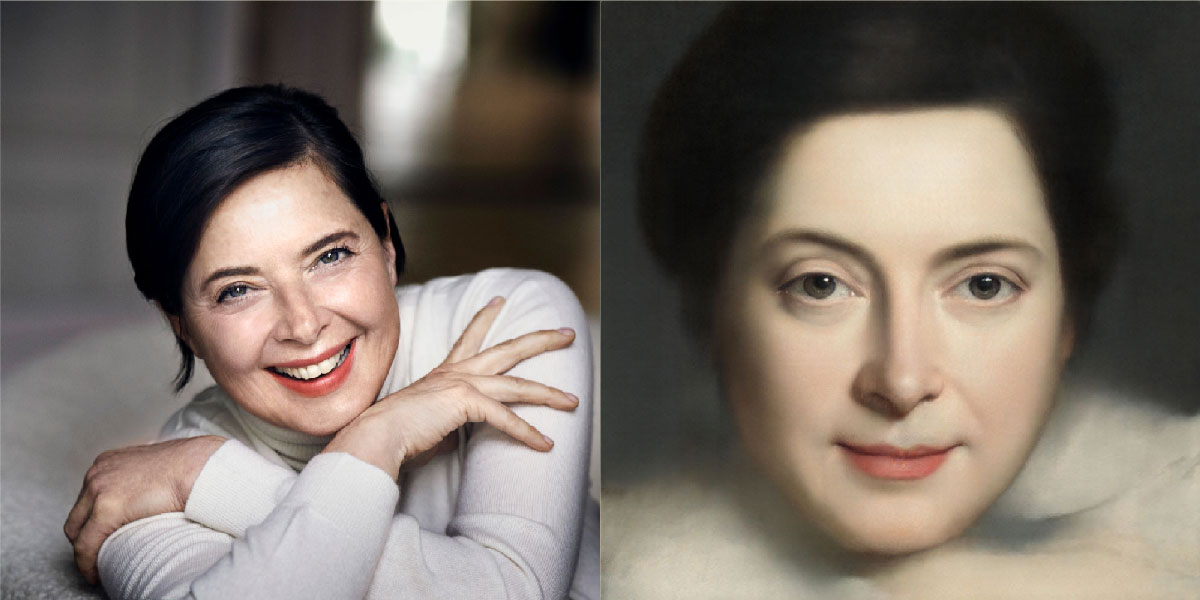 An example of an AI-generated classical portrait