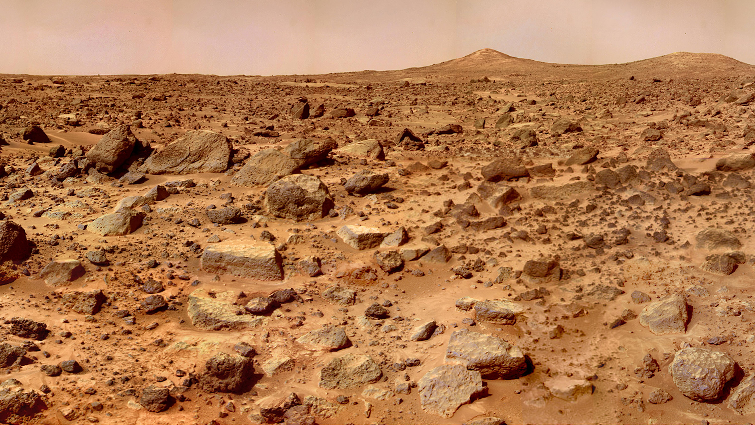A photo of the mars surface