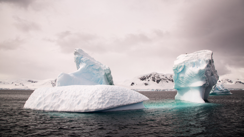 Icebergs near Antartica.