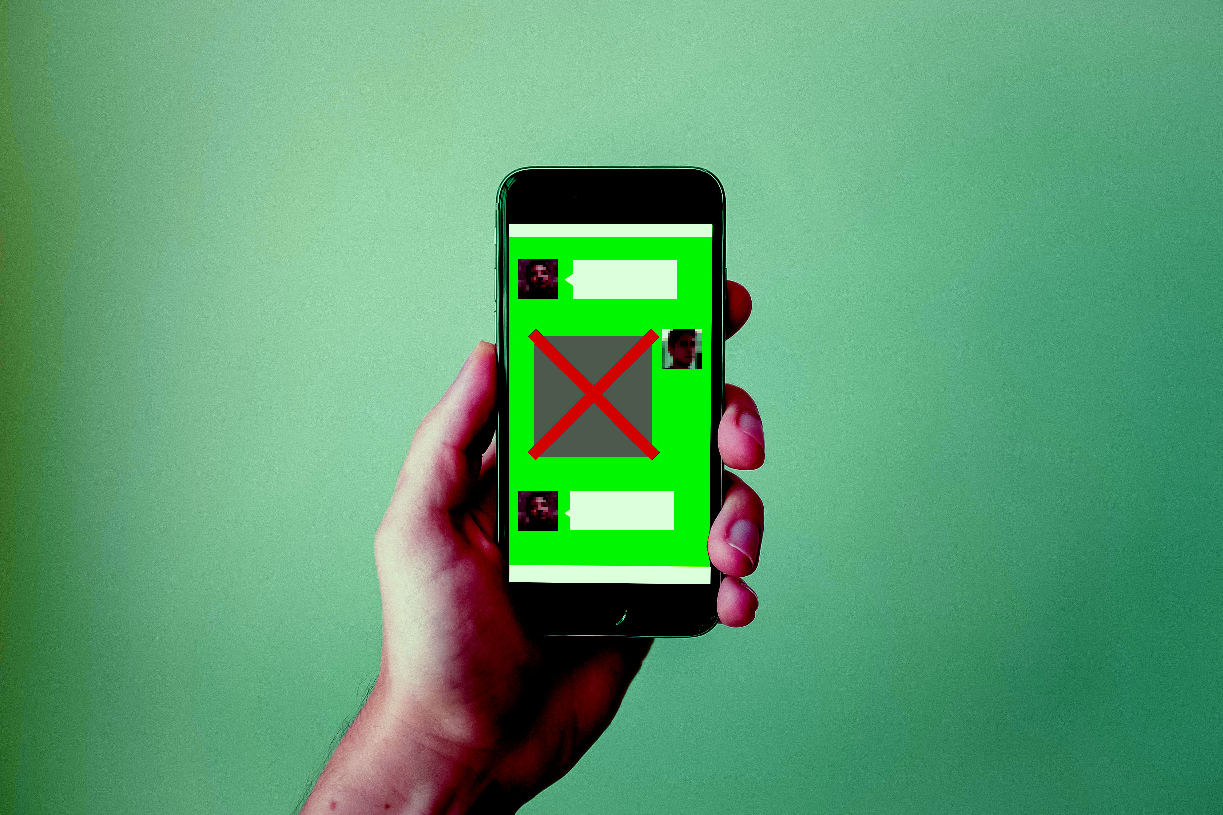 Conceptual illustration of WeChat image censoring