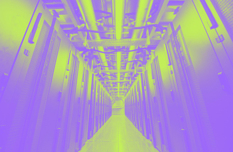 An image of a data center
