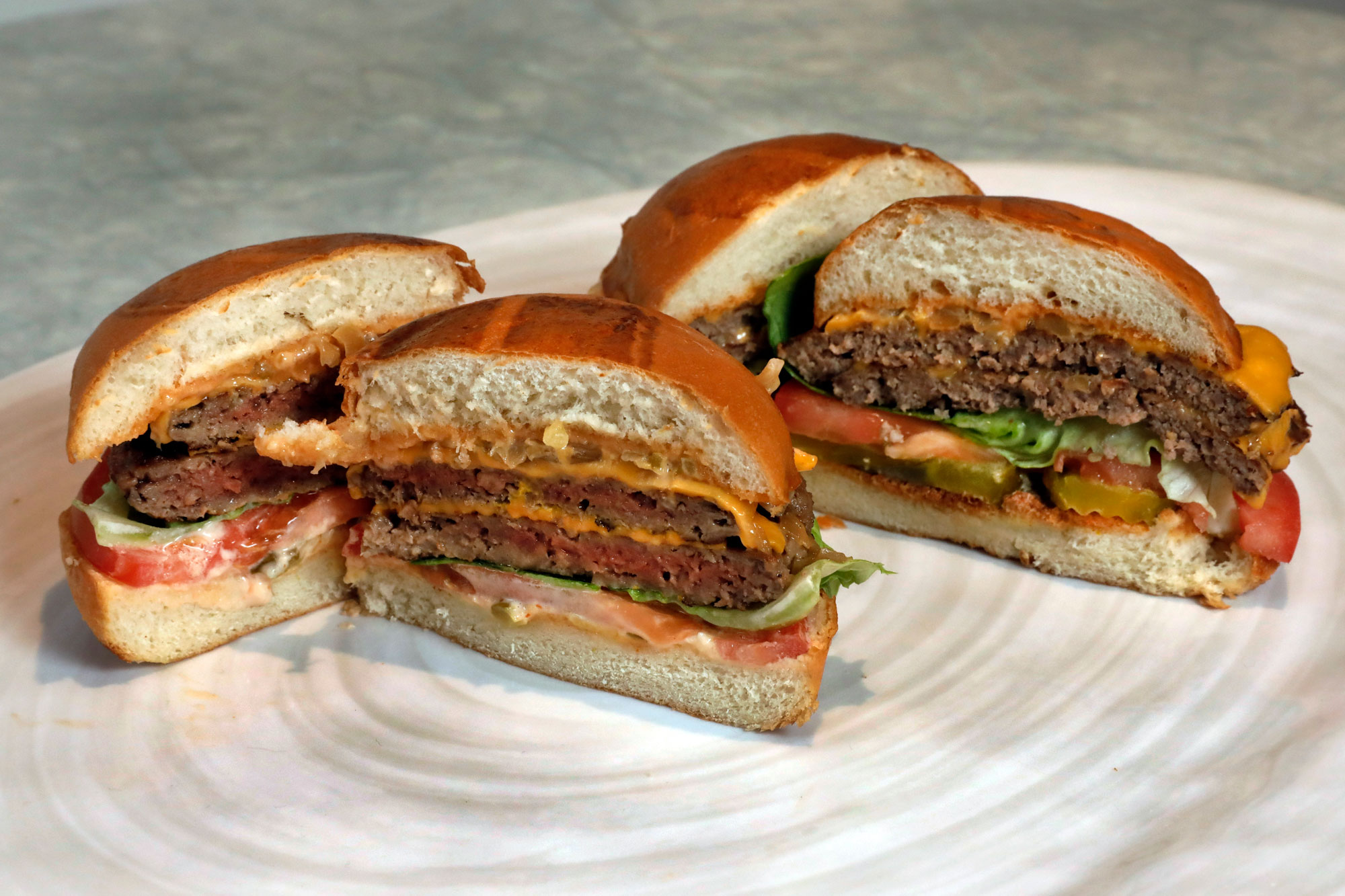 "A meat-free ""bleeding"" burger"