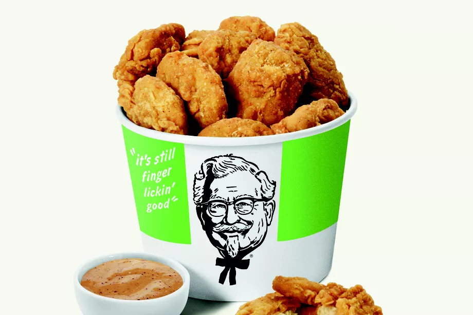 A bucket of meat-free KFC chicken nuggets