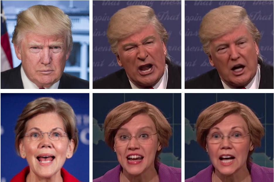 Deepfakes of Donald Trump and Elizabeth Warren.
