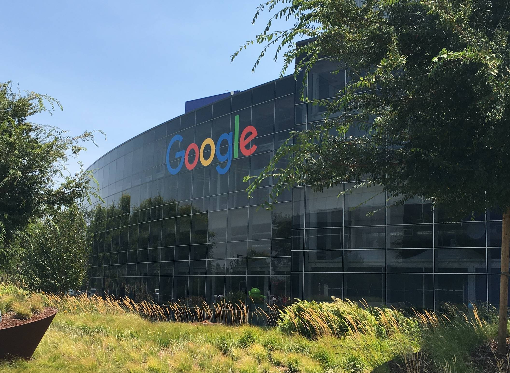 An image of Google's headquarters