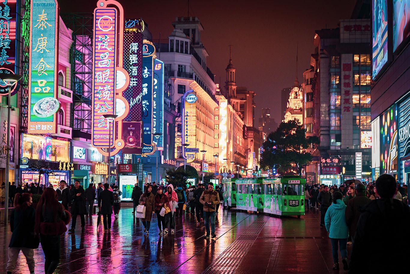 A street in Guo Tai Lao Long Tang Lv Guan, Huangpu Qu, Shanghai Shi, China