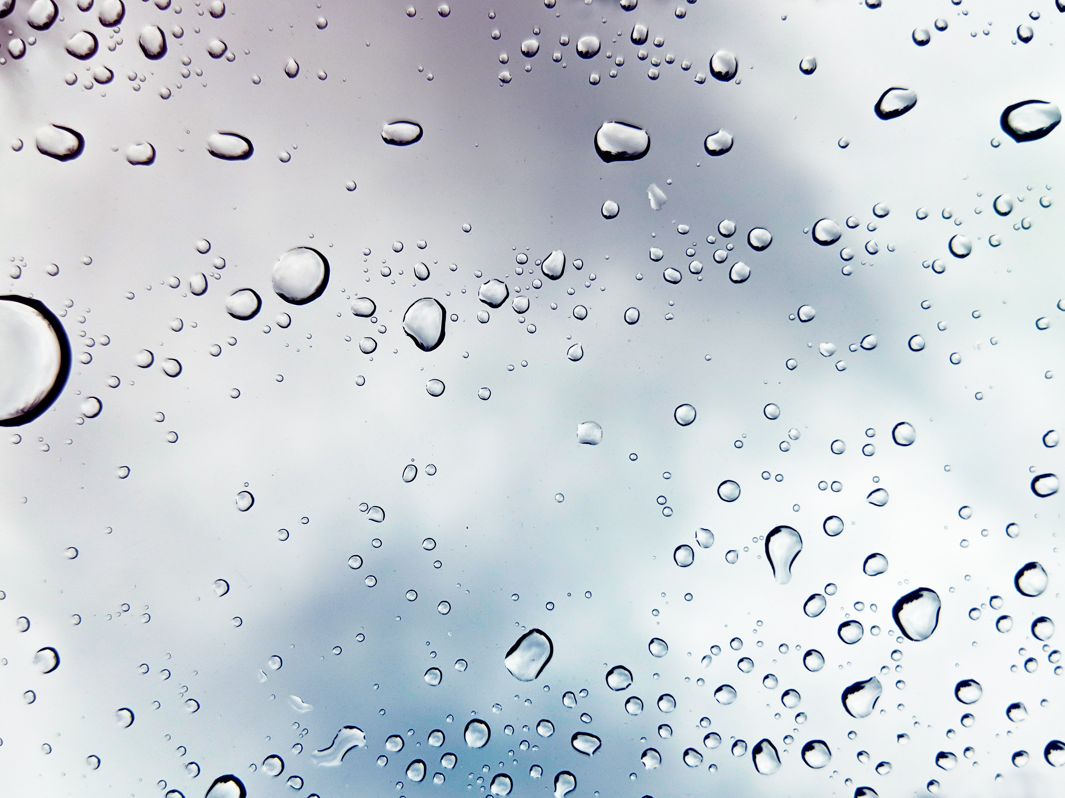 water droplets on a pane of glass