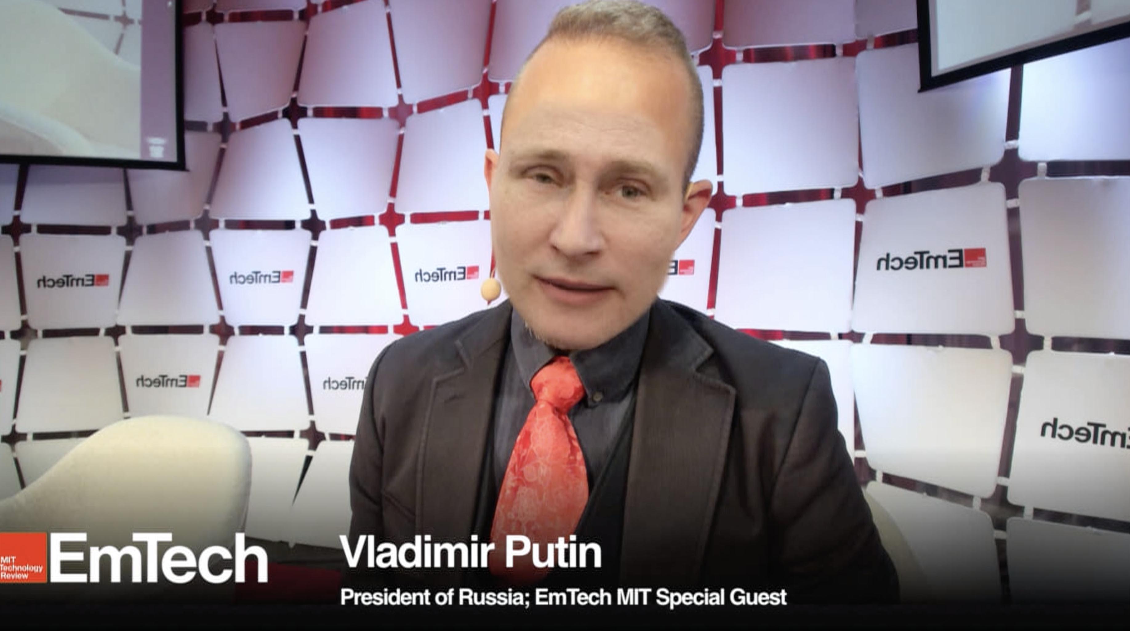 Screengrab from Putin deepfake