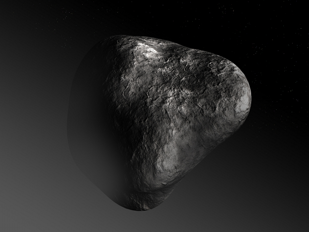 Artist's impression of a cometary nucleus.