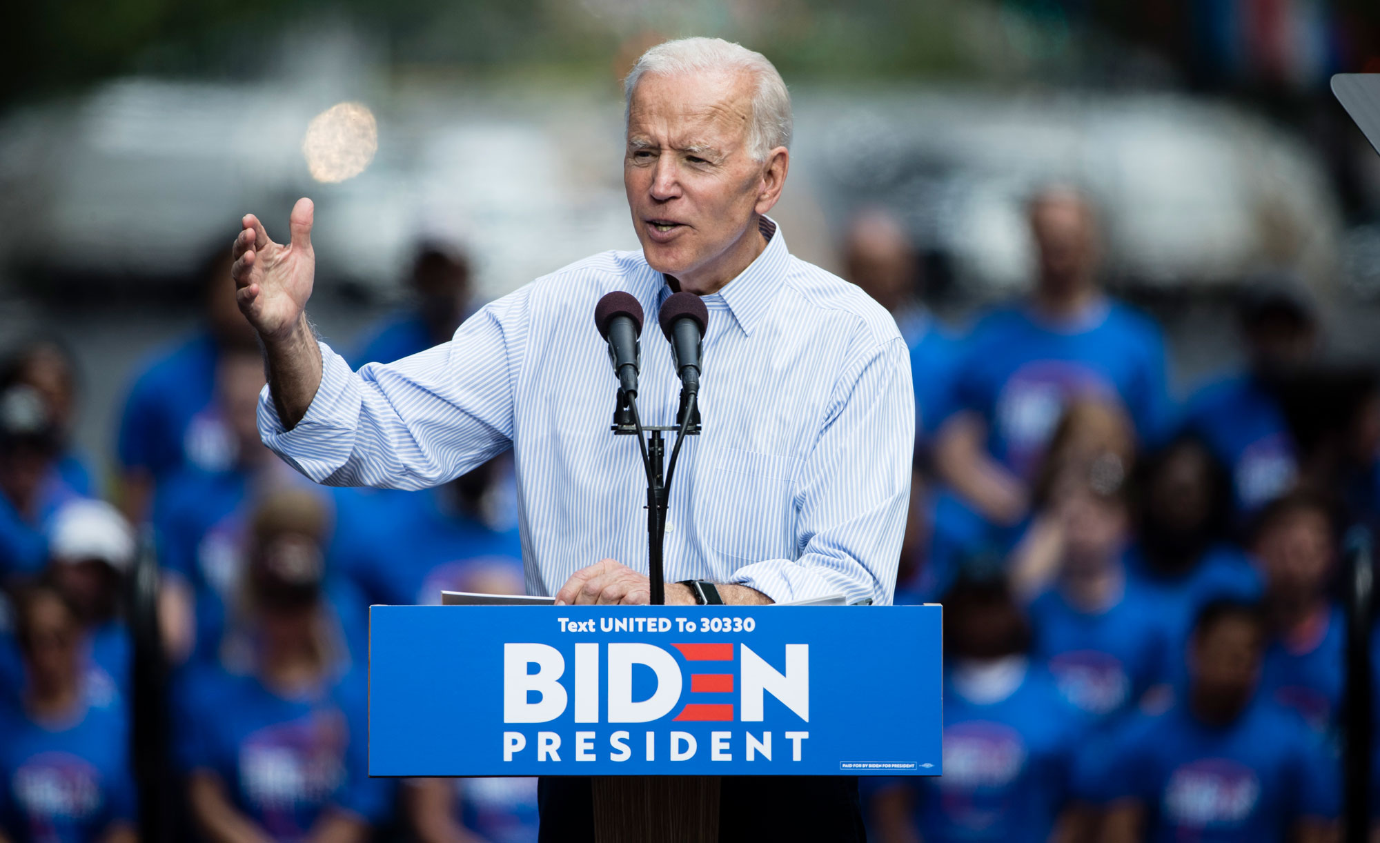 Joe Biden at a campaign rally