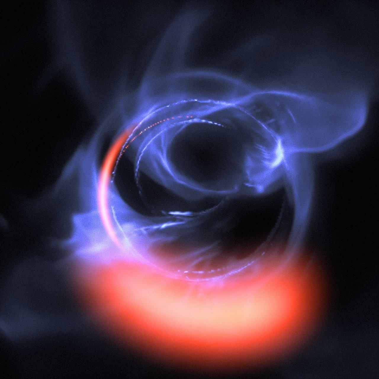 Black hole feeding on gaseous material