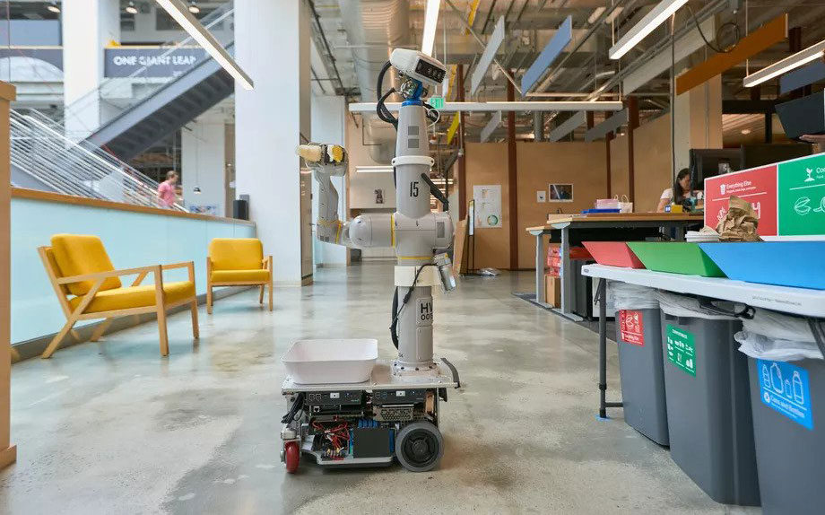 Alphabet X's recycling robot