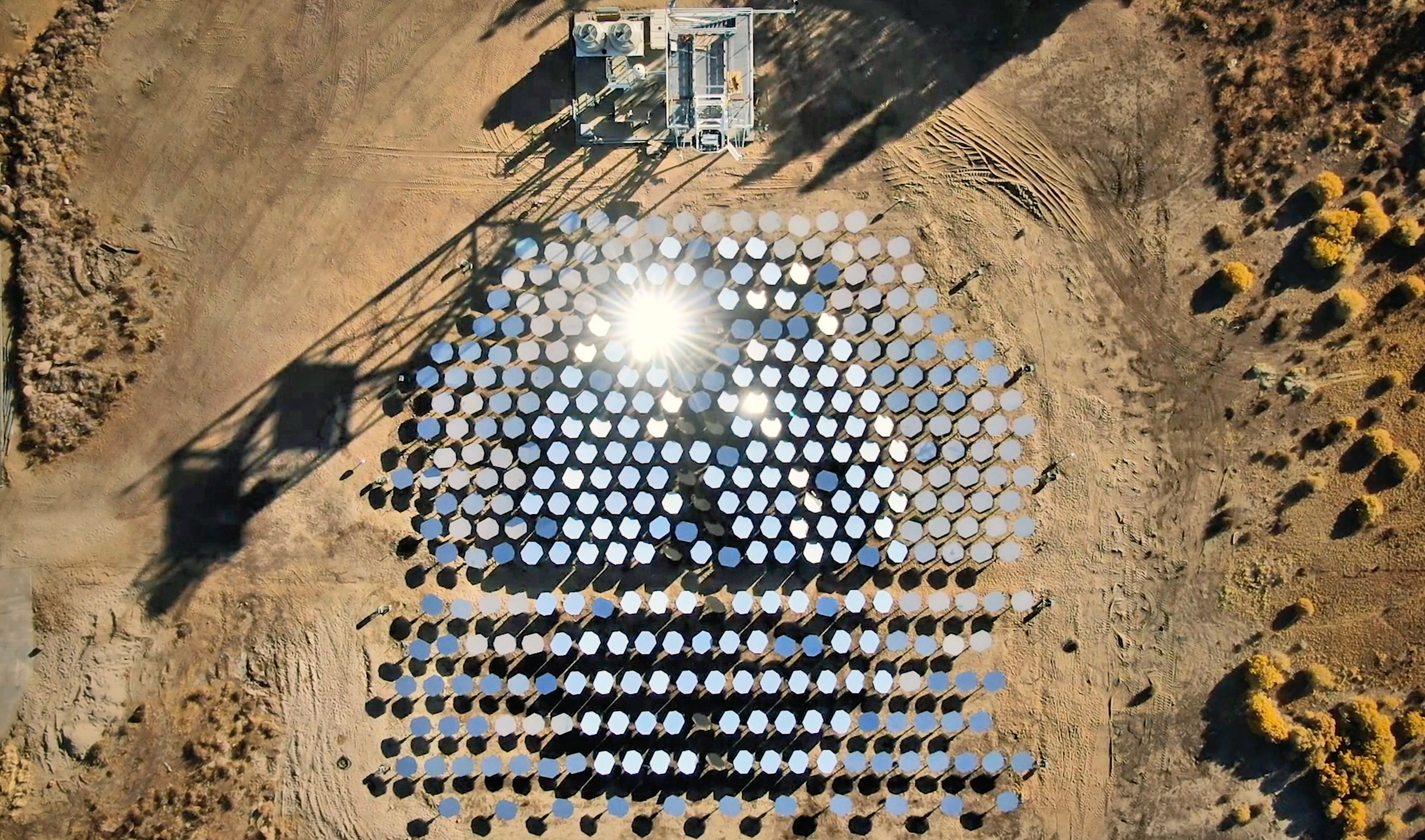 The Heliogen solar thermal site in Lancaster, California.