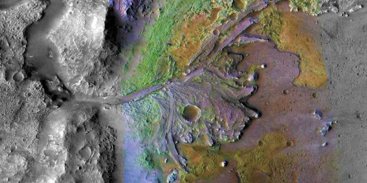 The landing site for NASA's Mars 2020 rover might be home to fossilized life
