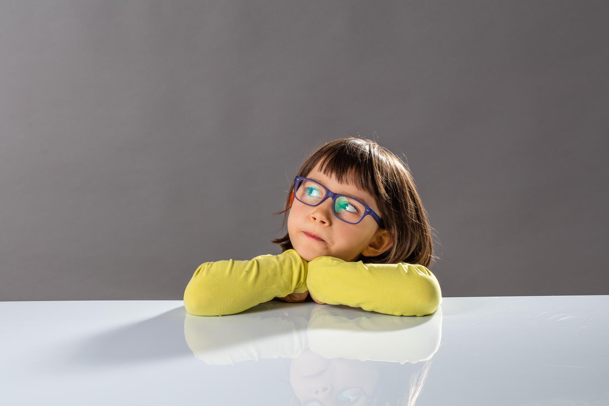 girl kid child alexa siri google home amazon skeptical cynical don't believe