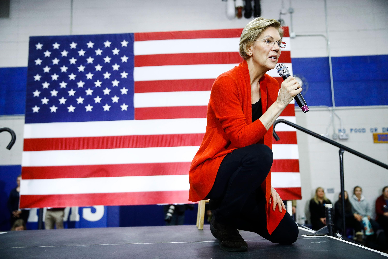 Democratic presidential candidate Sen. Elizabeth Warren at a campaign event in Concord, New Hampshire.