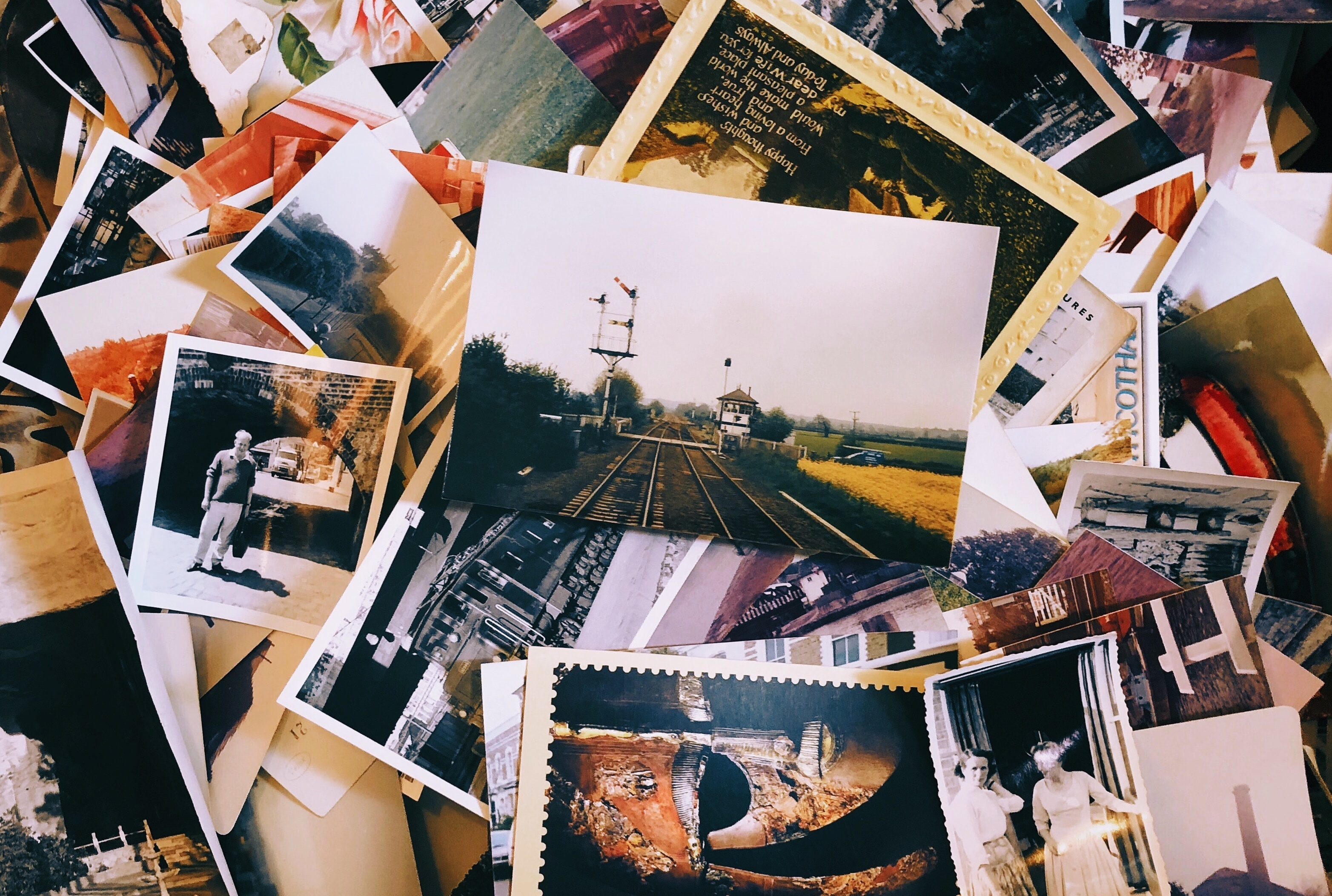 An image of a pile of photographs