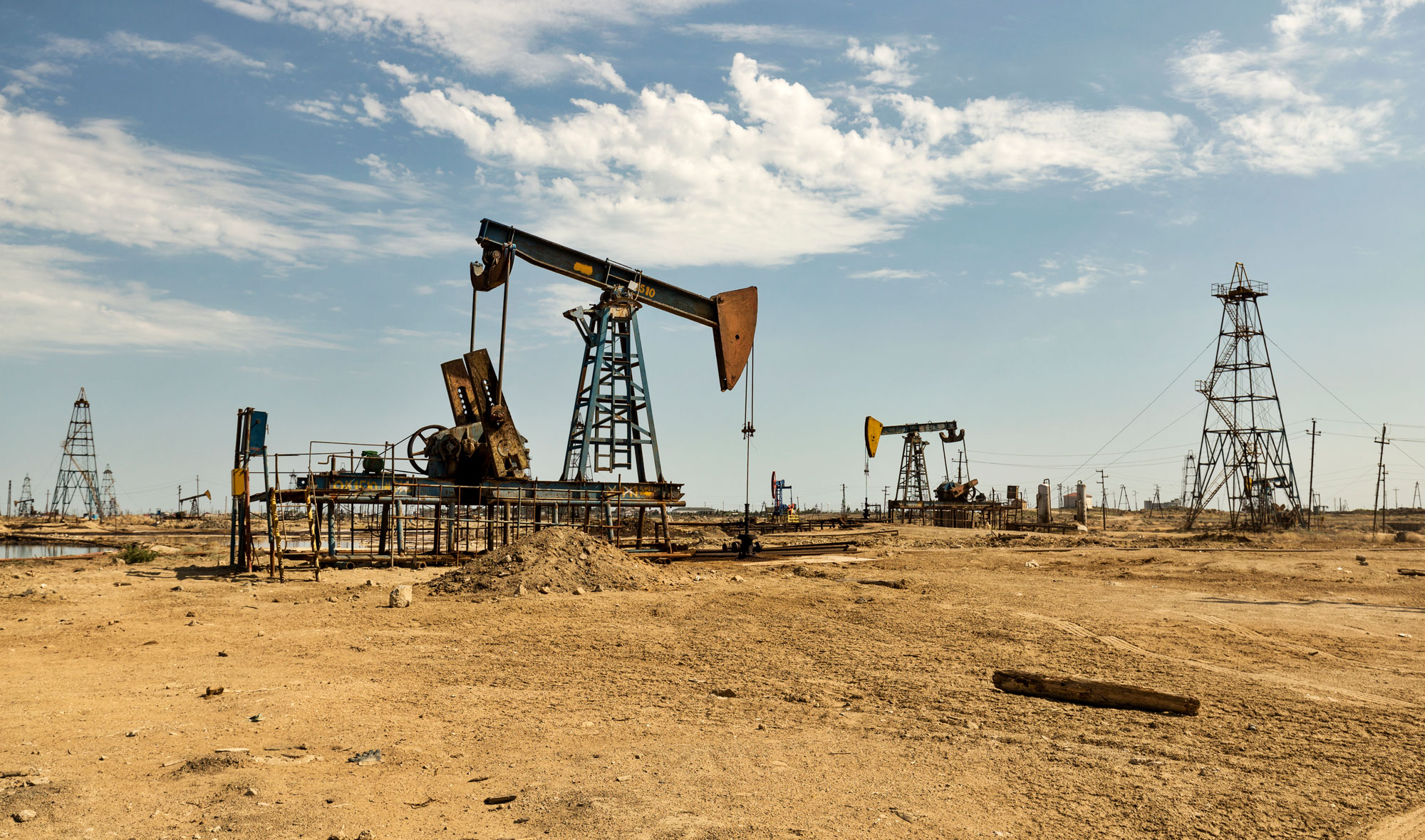 Oil fields in Baku, Azerbaijan