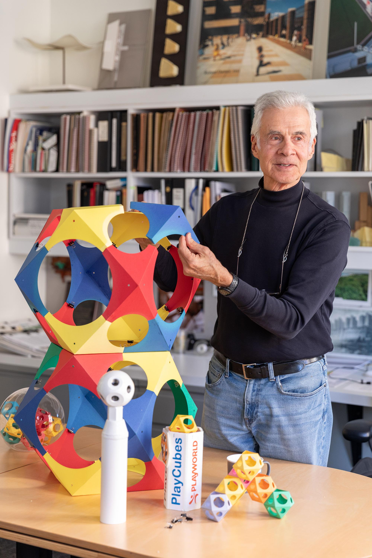 Richard Dattner in his office
