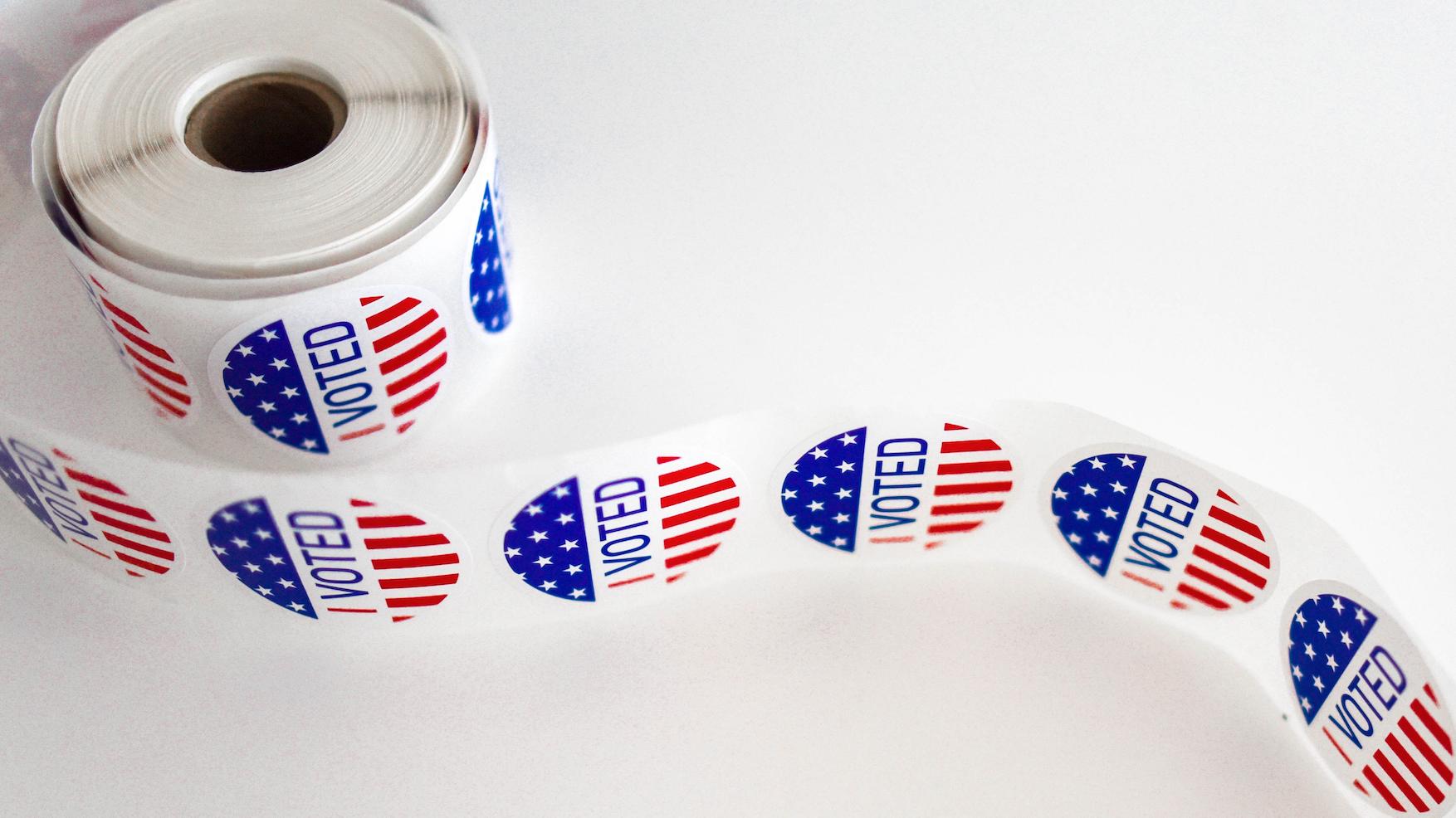 voter stickers