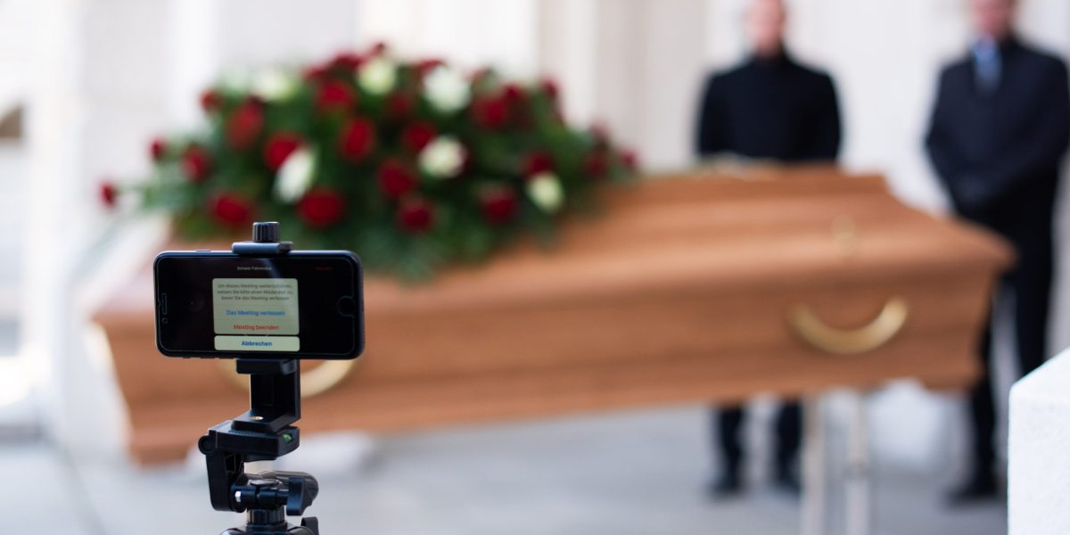 The lonely reality of Zoom funerals