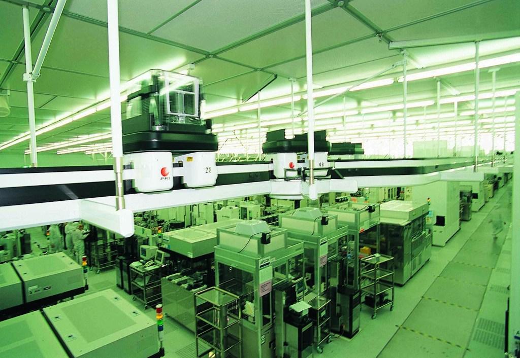 Inside a TSMC fabrication facility.