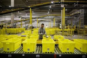 Human worker checks fulfillment queue