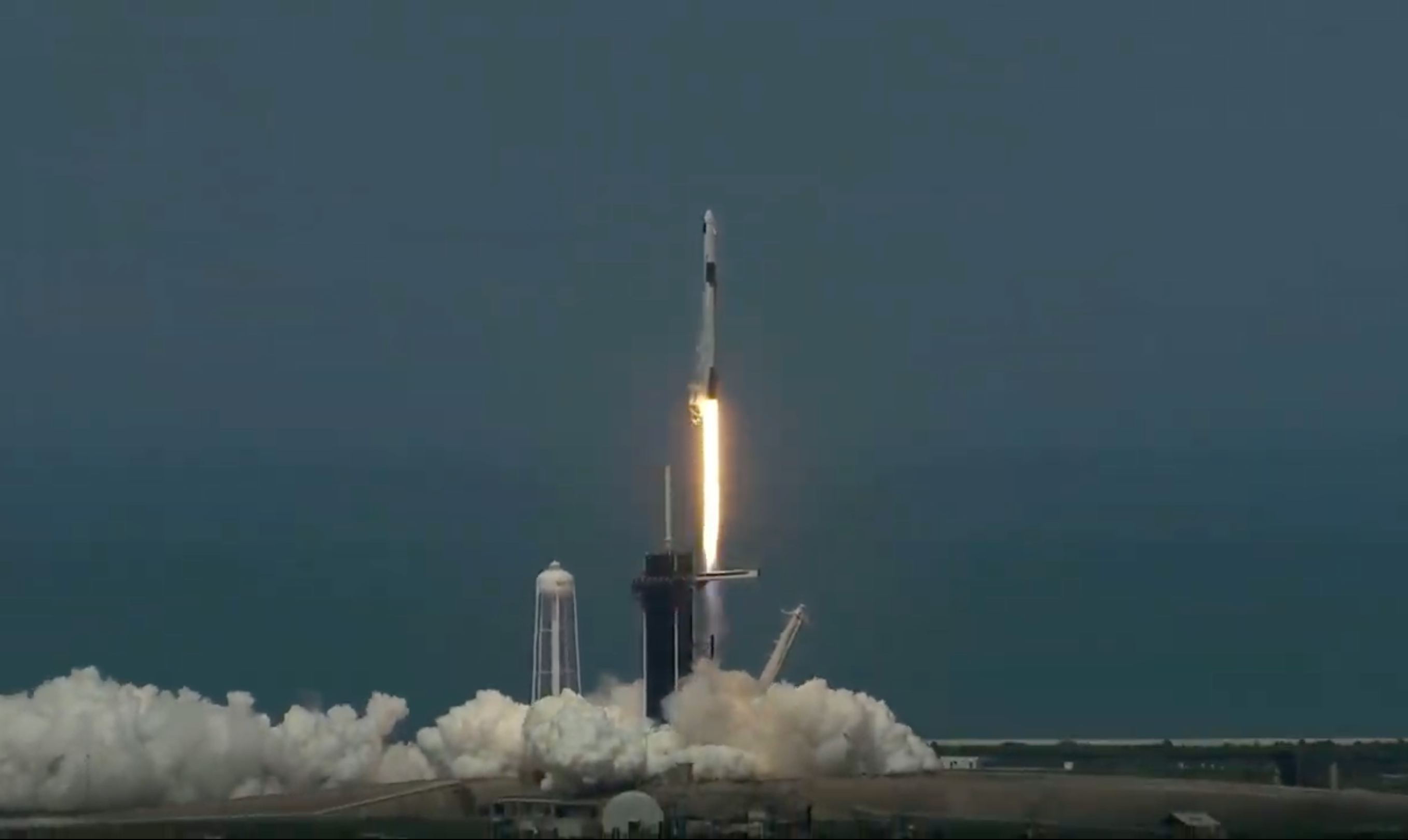 The SpaceX Crew Dragon lifting off for Demo-2.