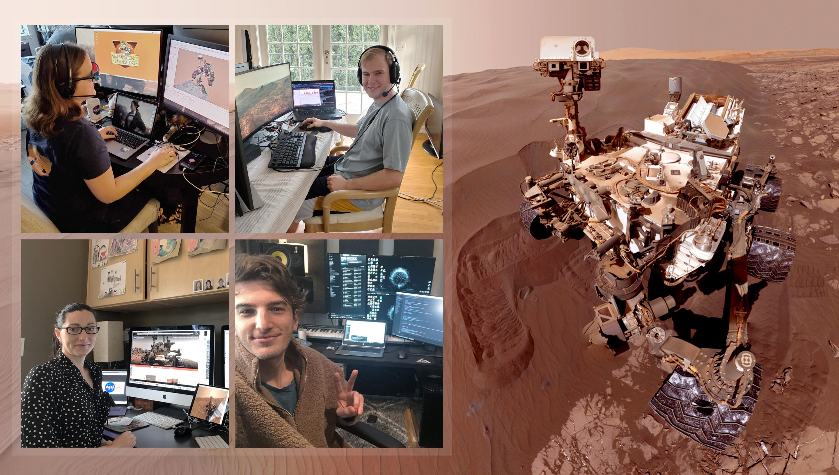 Curiosity team teleworks