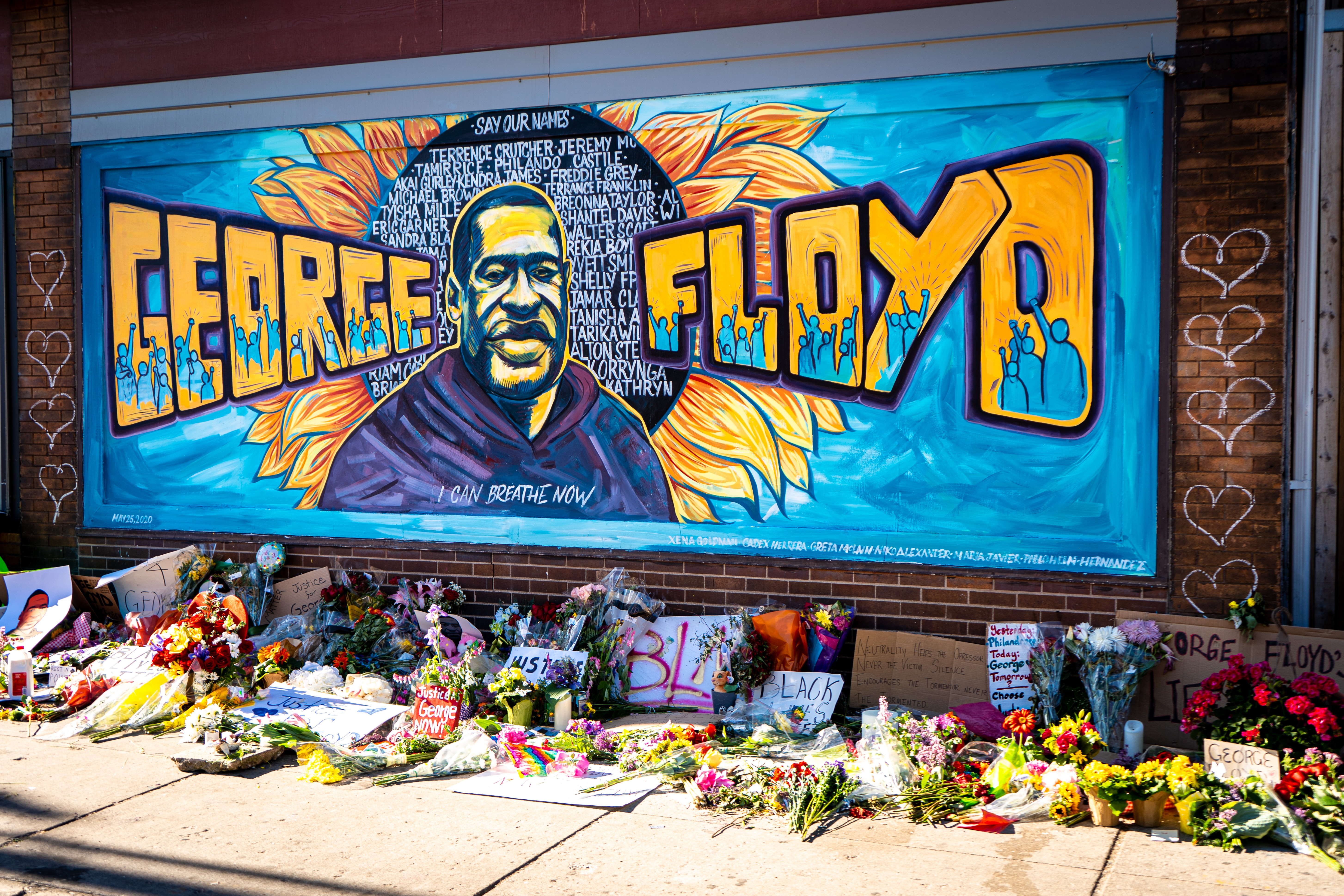 A mural in the memory of George Floyd in Minneapolis, Mn.