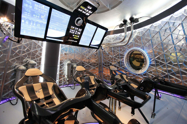 Dragon V2 interior