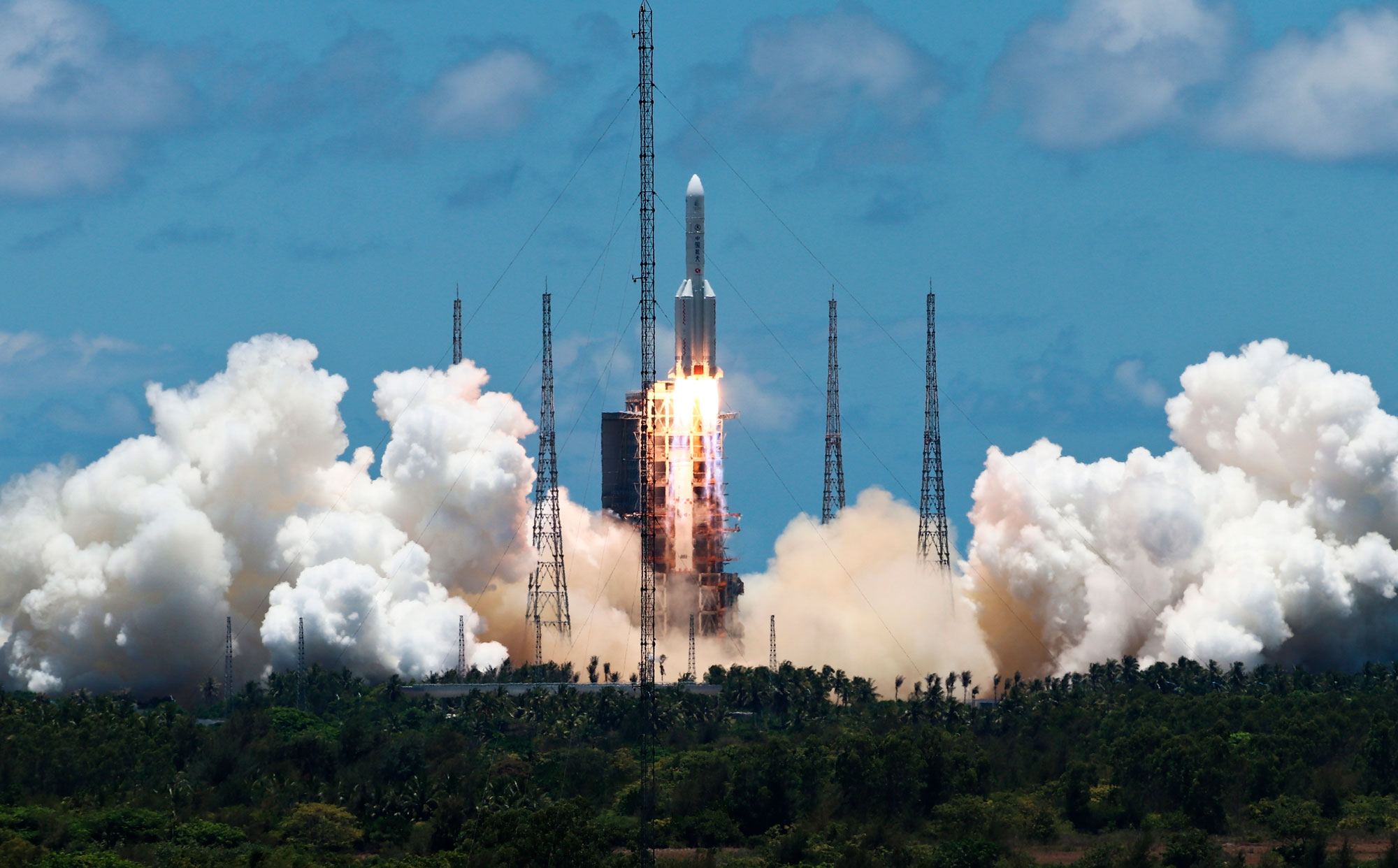 China's rocket takes off for Mars