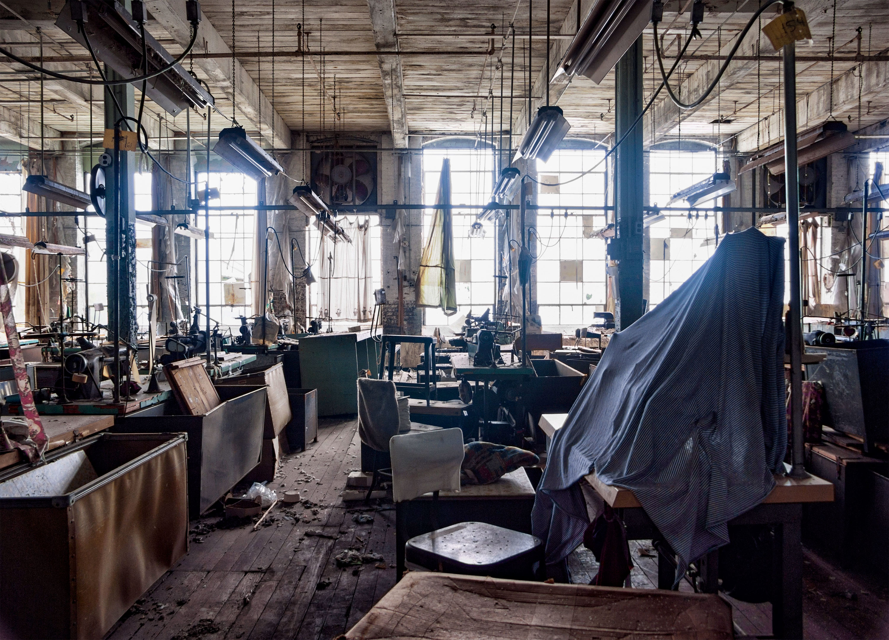 The Rosenau Brothers clothing factory in Lansford, Pennsylvania, once employed 500 people. It closed for good in the 1990s.