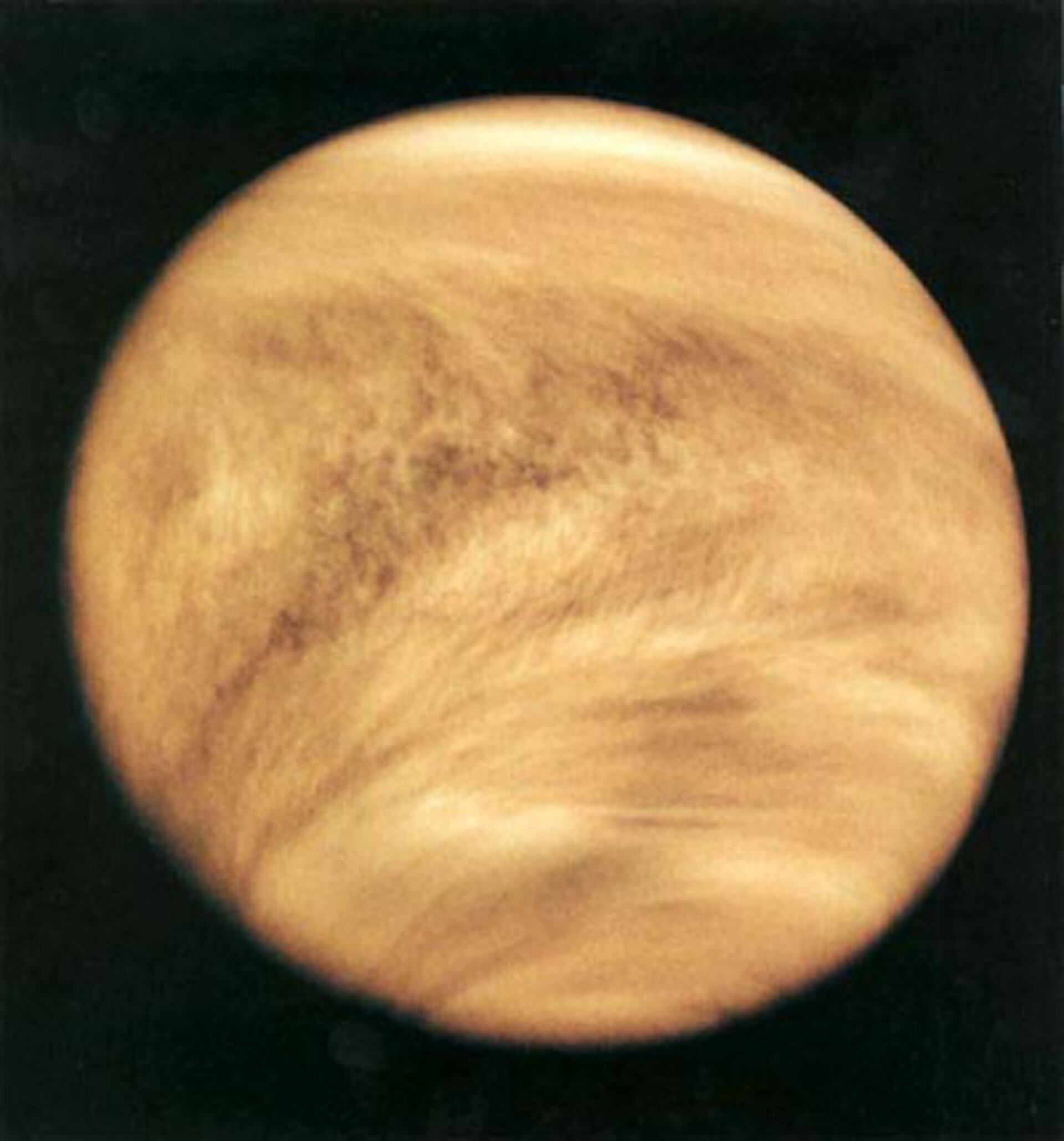 Venus, as seen by the Venus Express orbiter.