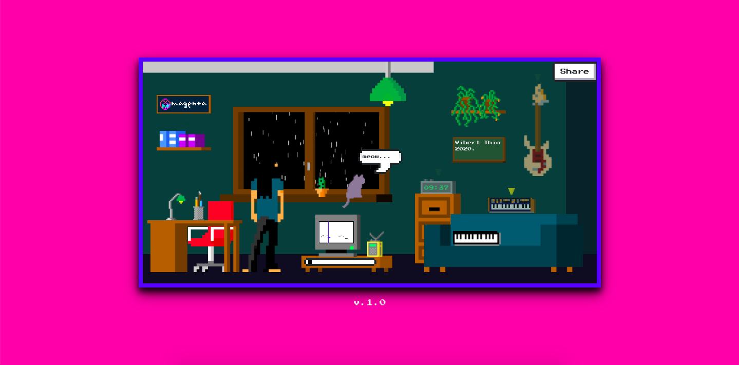 A screenshot of Lo-Fi Player, a new project from the Google Magenta team.