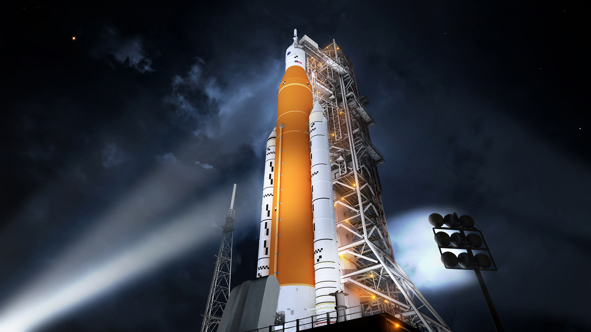 space launch system concept launchpad
