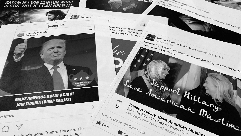 printouts from russian-linked trolls